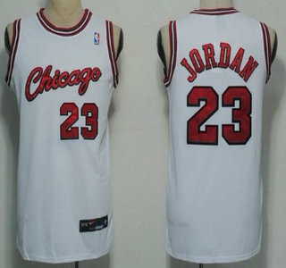 save off 12d25 0e2dd Chicago Bulls #23 Michael Jordan 1984-1985 Rookie White ...
