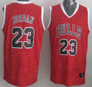 Chicago Bulls #23 Michael Jordan Red Leopard Print Fashion Jersey