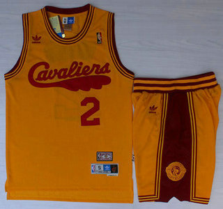 get cheap 340da f165c Cleveland Cavaliers #2 Kyrie Irving 2009 Yellow Hardwood ...