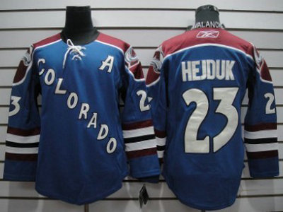 486edbe6e Colorado Avalanche 1 Chico Resch Blue Throwback Jersey CCM