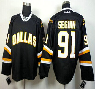 new products 05c7d bd92f Dallas Stars #91 Tyler Seguin Black Jersey