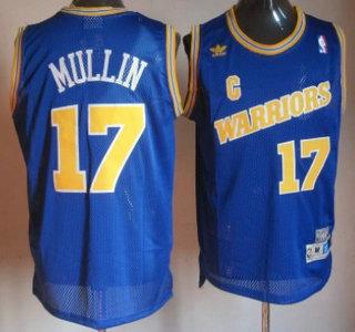 best loved 5196a 56839 Golden State Warriors 17 Chris Mullin Blue Soul Throwback Jersey