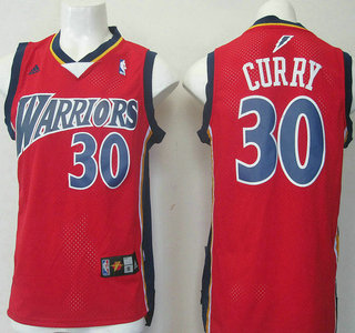 50449634a526 Golden State Warriors  30 Stephen Curry Lightning version Revolution 30  Swingman Red Jersey