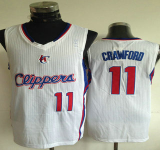 599dc15f8 Los Angeles Clippers  11 Jamal Crawford White Revolution 30 Authentic Jersey
