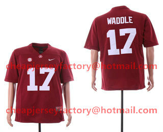 Men's Nike #17 Crimson Alabama Crimson Tide Limited Jersey