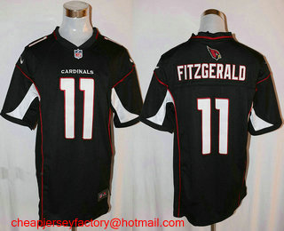 reputable site 37d0b a965a ... Pro Line Mens Arizona Cardinals Larry Fitzgerald Alternate Jersey Mens  Arizona Cardinals 11 Larry Fitzgerald Black Alternate NFL Nike Game Jersey  ...