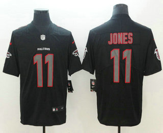 Men s Atlanta Falcons  11 Julio Jones Black 2018 Fashion Impact Black Color  Rush Stitched NFL Nike Limited Jersey be2df2388