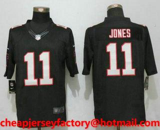san francisco 8b6e6 5e676 Men's Atlanta Falcons #11 Julio Jones Black Alternate ...