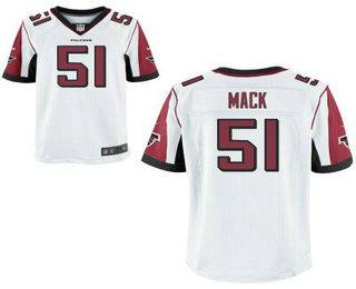 5002c97bc Men s Atlanta Falcons  95 Jonathan Babineaux Red Team Color NFL Nike ...