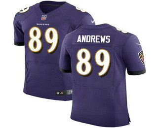 Hot Men's Baltimore Ravens #89 Mark Andrews Purple Team Color Stitched  for sale