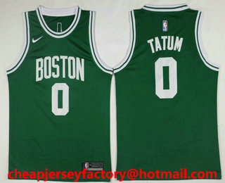 ... mens boston celtics 0 jayson tatum green 2017 2018 nike icon edition  swingman jersey 1d727cf6e