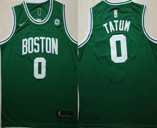 huge selection of c0ecf b74d0 Men's Boston Celtics #0 Jayson Tatum Green 2017-2018 Nike ...