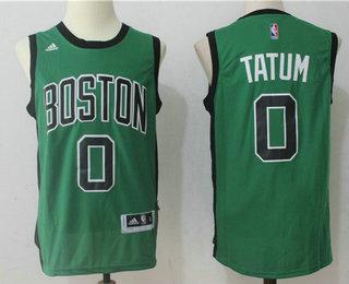 huge discount fffdb 4f267 Men's Boston Celtics #0 Jayson Tatum Green With Black ...