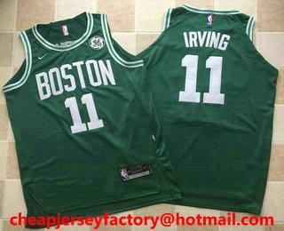 Men's Boston Celtics #11 Kyrie Irving Green 2017-2018 AU Stitched NBA  Revolution 30