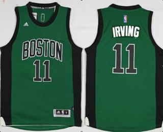 Men s Boston Celtics  11 Kyrie Irving Green With Black Stitched NBA  Revolution 30 Swingman Jersey 309556d2e