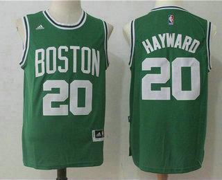7fbf3bc1 Men's Boston Celtics #20 Gordon Hayward Green Stitched NBA Revolution 30 Swingman  Jersey