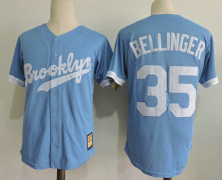 5c1bc16806a Men s Brooklyn Dodgers  35 Cody Bellinger Light Blue Stitched MLB Cool Base  Cooperstown Collection Jersey
