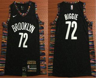 a7507d61 Men's Brooklyn Nets #72 Biggie Black Nike 2019 New Season Swingman City  Edition Jersey
