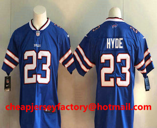 64b5fa0bf Men s Buffalo Bills  23 Micah Hyde Royal Blue 2017 Vapor Untouchable  Stitched NFL Nike Limited