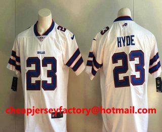 Men s Buffalo Bills  23 Micah Hyde White 2017 Vapor Untouchable Stitched  NFL Nike Limited Jersey d0f9779f4