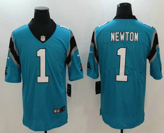 85aa186b996e0 Men s Carolina Panthers  1 Cam Newton Blue 2017 Vapor Untouchable Stitched  NFL Nike Limited Jersey