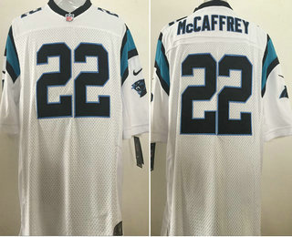 Wholesale Men's Carolina Panthers #22 Christian McCaffrey White Road Stitched  supplier