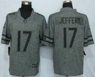 mens chicago bears 17 alshon jeffery nike gray gridiron 2015 nfl gray limited jersey