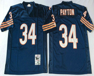 super popular 2f5d3 c81b6 Men's Chicago Bears #72 William Perry Blue Small Number Navy ...