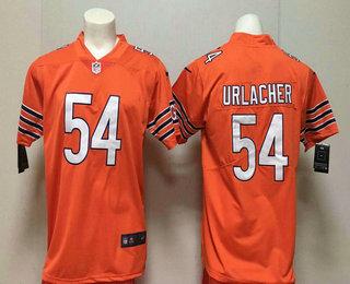best loved bfbd3 4298d Men's Chicago Bears #54 Brian Urlacher Orange 2017 Vapor ...