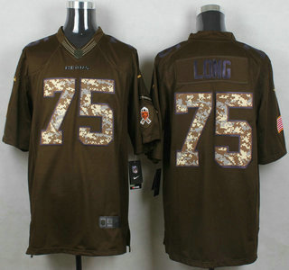 mens chicago bears 75 kyle long green salute to service 2015 nfl nike limited jersey