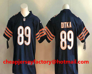 Men s Chicago Bears  89 Mike Ditka Navy Blue 2017 Vapor Untouchable  Stitched NFL Nike Limited 2ddfa01b5