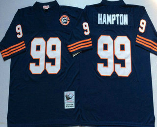 Men s Chicago Bears  99 Lamarr Houston Blue With Bear Patch Throwback  Jersey by Mitchell   0eb9150b0