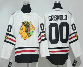 ed57acad Men's Chicago Blackhawks #00 Clark Griswold White 2017 Winter Classic  Stitched NHL Reebok Hockey Jersey