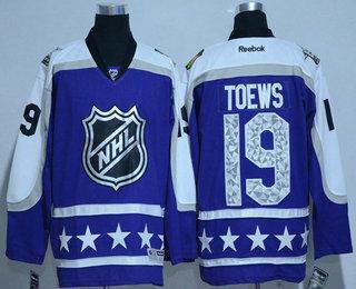 5a0e58e3e Men s Chicago Blackhawks  19 Jonathan Toews Central Division Reebok Purple  2017 NHL All-Star