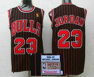 detailed look 61ed7 7a350 Men's Chicago Bulls #23 Michael Jordan 1996-97 Black ...
