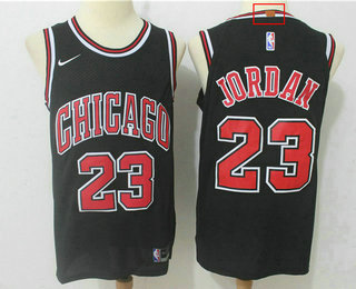 bde78677199 Men s Chicago Bulls  23 Michael Jordan Black 2017-2018 Nike Authentic  Stitched NBA Jersey