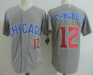 02439f461 mens chicago cubs 17 kris bryant gray road with small number stitched mlb  majestic cool base jersey