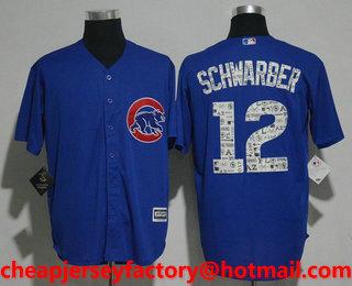 995eb3ac2 Men s Chicago Cubs  12 Kyle Schwarber Royal Blue 2017 Spring Training  Stitched MLB Cool Base Jersey