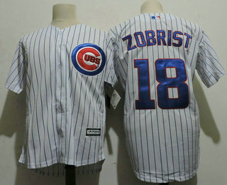 mens chicago cubs 18 ben zobrist white home stitched mlb cool base jersey