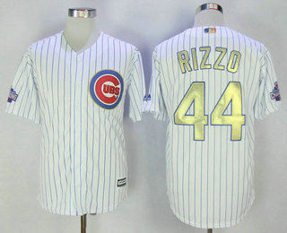 reputable site 677ea f7374 Men's Chicago Cubs #44 Anthony Rizzo White World Series ...