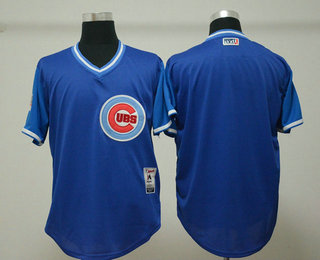 6d36edc5e Men s Chicago Cubs Blank Royal 2018 LLWS Players Weekend Stitched Nickname  Jersey