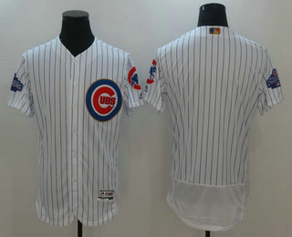 mens chicago cubs blank white world series champions gold stitched mlb 2017 flex base jersey
