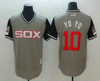 4c4f5bff56b Men s Chicago White Sox  10 Yoan Moncada Yoyo Gray-Black 2018 Players   Weekend