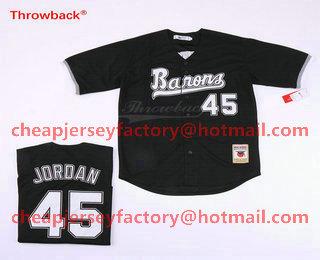 hot sale online 291fb e4a10 Men's Chicago White Sox Birmingham Barons #45 Michael Jordan ...