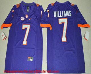 huge discount d31f8 0ba54 Men's Clemson Tigers #7 Mike Williams Purple Stitched NCAA ...