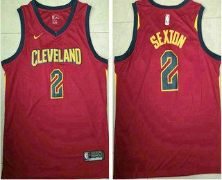 sale retailer 1fe8f 30157 Men's Cleveland Cavaliers #2 Collin Sexton Red 2017-2018 ...