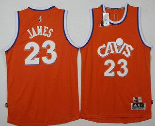 3976691e5 ... Mens Cleveland Cavaliers 23 LeBron James New CavFanatic Orange Hardwood  Classics Soul Swingman Throwback Jersey ...