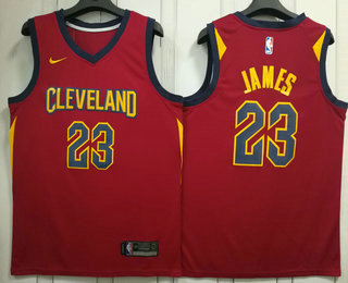 2a82dfcdd Men s Cleveland Cavaliers  23 LeBron James Red 2017-2018 Nike Swingman  Stitched NBA Jersey