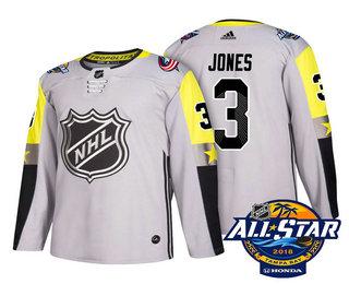huge selection of 9a703 afbc9 Men's Columbus Blue Jackets #3 Seth Jones Grey 2018 NHL All ...