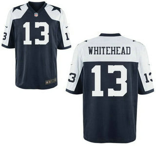 4387ac345ce Men's Dallas Cowboys #13 Lucky Whitehead Navy Blue Thanksgiving Alternate  NFL Nike Elite Jersey